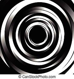 Ilustración, patrón, Extracto, Espiral, círculos, anillos, Monocromo, geométrico, concéntrico