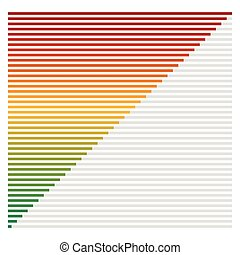 Bar chart, bar graph interface element with low and high...