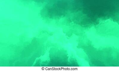 Green smoke like abstract loop - Green CG smoke like...