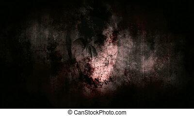 Dark horror grunge strobe skull