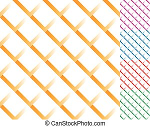Cellular grid, mesh pattern with shade. Interlaced...
