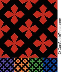 simplified design of a classic folk textile, embroidery,...
