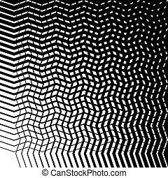 Grid mesh of irregular jagged, wavy lines. Abstract...