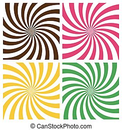 Set of Swirling Radial Backgrounds
