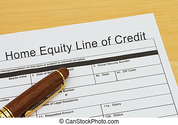 Applying for a Home Equity Line of Credit