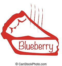 Warm Blueberry Pie - Cartoon depiction of a hot blueberry...