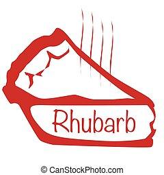 Warm Rhubarb Pie