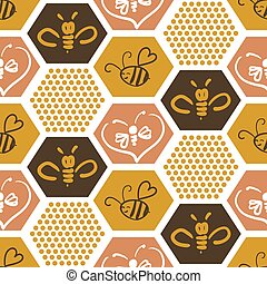 Vector background with bees for your design.