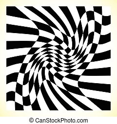 Checkered pattern (chess board, checker board) with...