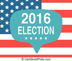 Election day poster. 2016 USA