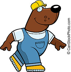 Builder Bear - A happy cartoon builder bear in a hardhat.