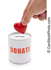 Donation Box and Red Heart