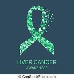 Liver cancer ribbon