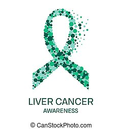 Liver cancer ribbon