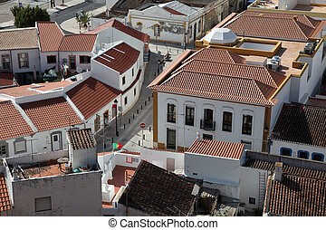 View over the town Castro Marim, Algarve Portugal