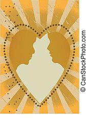Heart Couple Rays