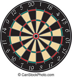 dartboard - a dart board on a white background