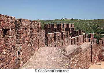 Ancient castle in Silves, Algarve Portugal