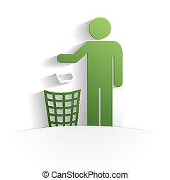 cleanliness icon paper style full vector