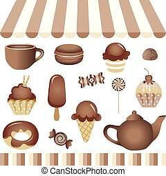 Chocolate Candy Shop - Scalable vectorial image representing...