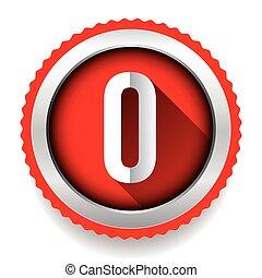 Number Zero badge vector