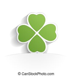 four leaf clover paper icon  style full vector
