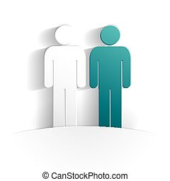 mens paper icon style full vector