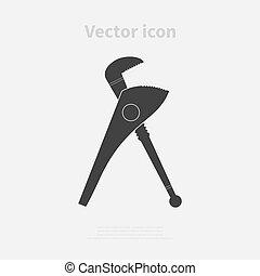 Caliper icon. Vector illustration.