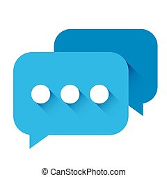 Chat Icon vector blue
