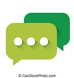 Chat Icon vector green