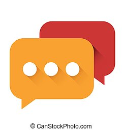 Chat Icon vector orange