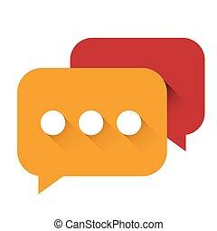 Chat Icon vector orange