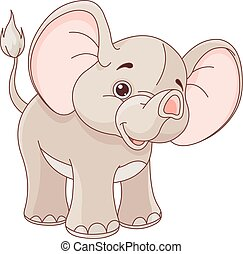 Baby Elephant - Illustration of cute baby elephant