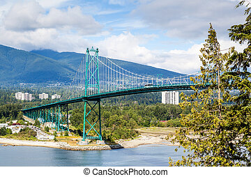 Lions Gate Bridge at Stanley Park in Vancouver - Opened in...