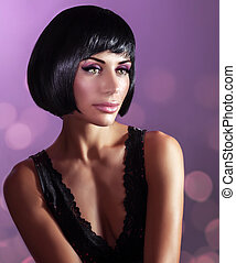 Gorgeous woman fashion portrait