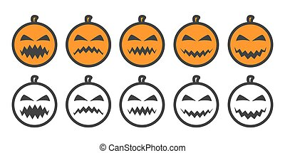 Halloween Pumpkin Emoji icons