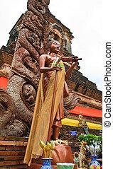 Monk Siwalee image in Wat Lok Moli, Chiang Mai