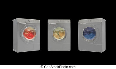 Washing machines - Detail of washing machine in action HD
