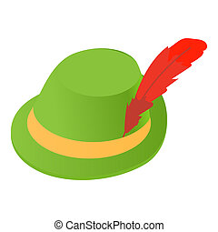 Irish hat icon, icon, cartoon style - Irish hat icon in...