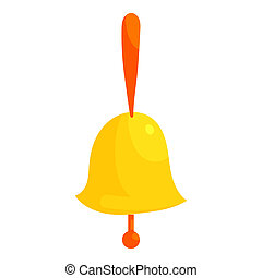 Ringing bell icon, cartoon style