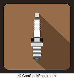 Car candle icon, flat style - Car candle icon in flat style...