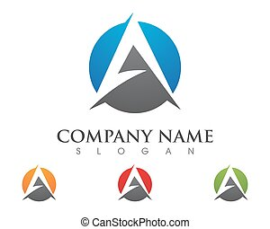 A Letter Logo Business Template