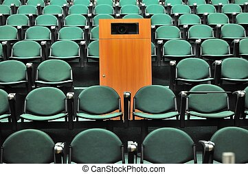 Lecture theater seating. For concepts such as school and...