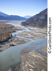 Chilkat River in Fall