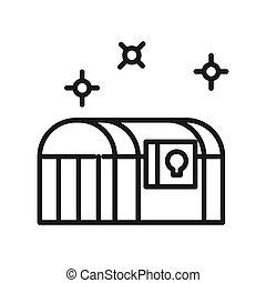 treasure chest vector illustration design