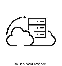 cloud hosting vector illustration design