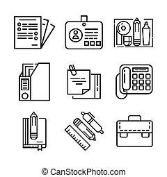 office stuff icon set