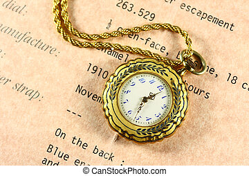old fob watch - 1910 made fob watch with a chain