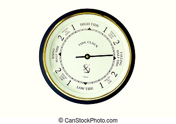 tide clock - a modern tide clock on a white background