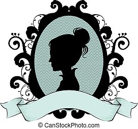 Cameo Ribbon Design